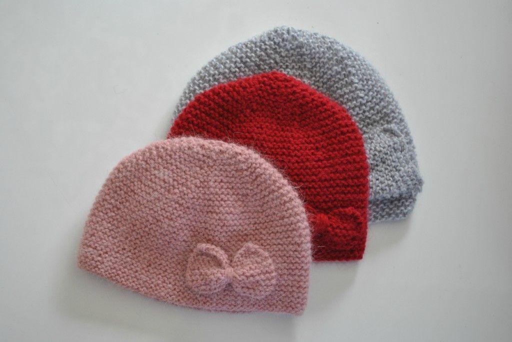 photo tricot tricot modele bonnet naissance 15   ART CREATIF ... 83aebf25331