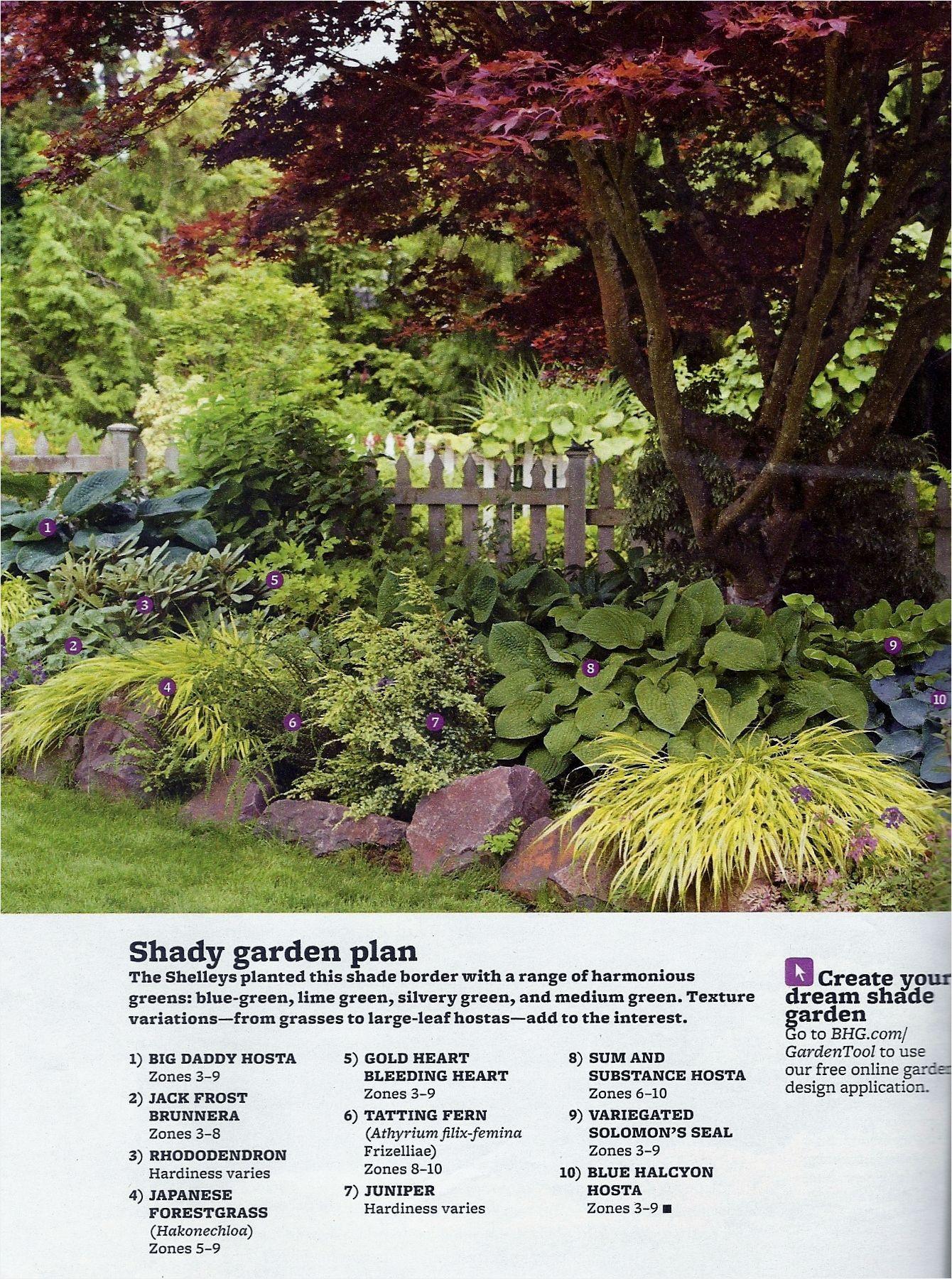 Better Homes And Gardens Magazine August 2012 Minimalist Shade Garden Plants Zone 5 Mu44578 Shade Garden Plants Shade Garden Garden Planning