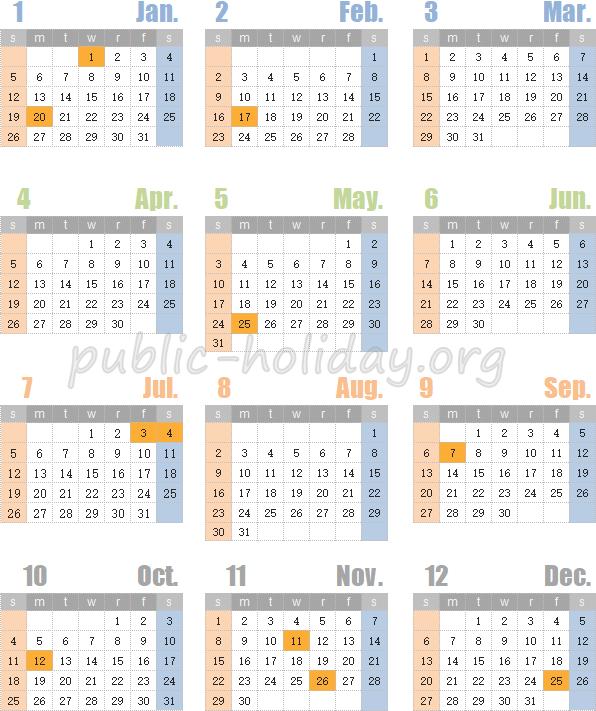 アメリカ 祭日 2020 アメリカの祝日(holidays) junglecity.com