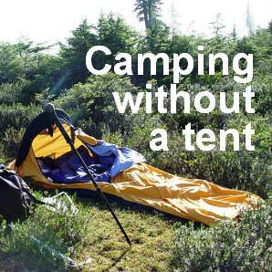 Ideas for c&ing without a tent for outdoor activities such as overnight kayaking bicycle touring & Ideas for camping without a tent for outdoor activities such as ...