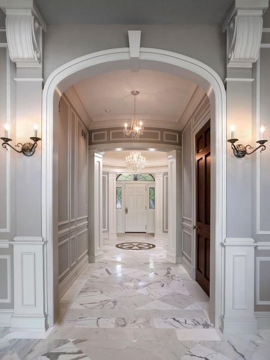 classic marble flooring | Dream Home | Wall molding, Living room