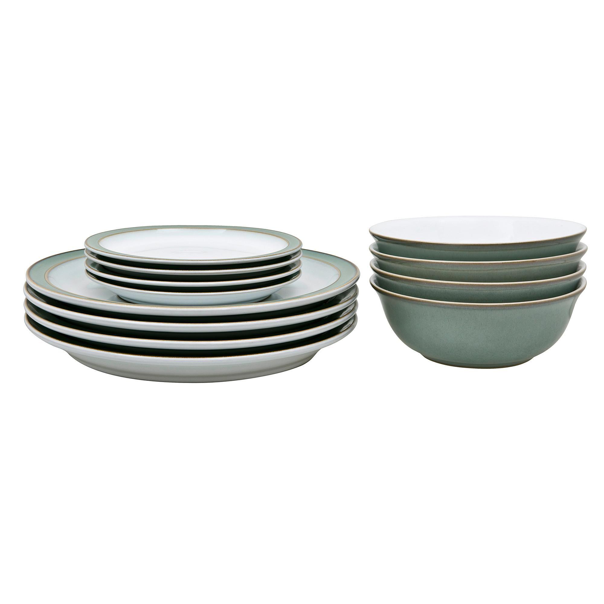 Denby Regency Green 12 Piece Dinner Set In 2020 Dinner Sets Kitchenaid Artisan Mixer Denby Pottery