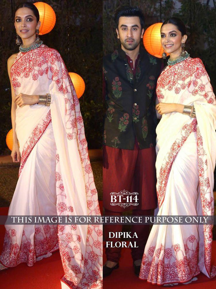 e914e43b72a Bollywood Designer Saree -BT-114 Deepika Floral