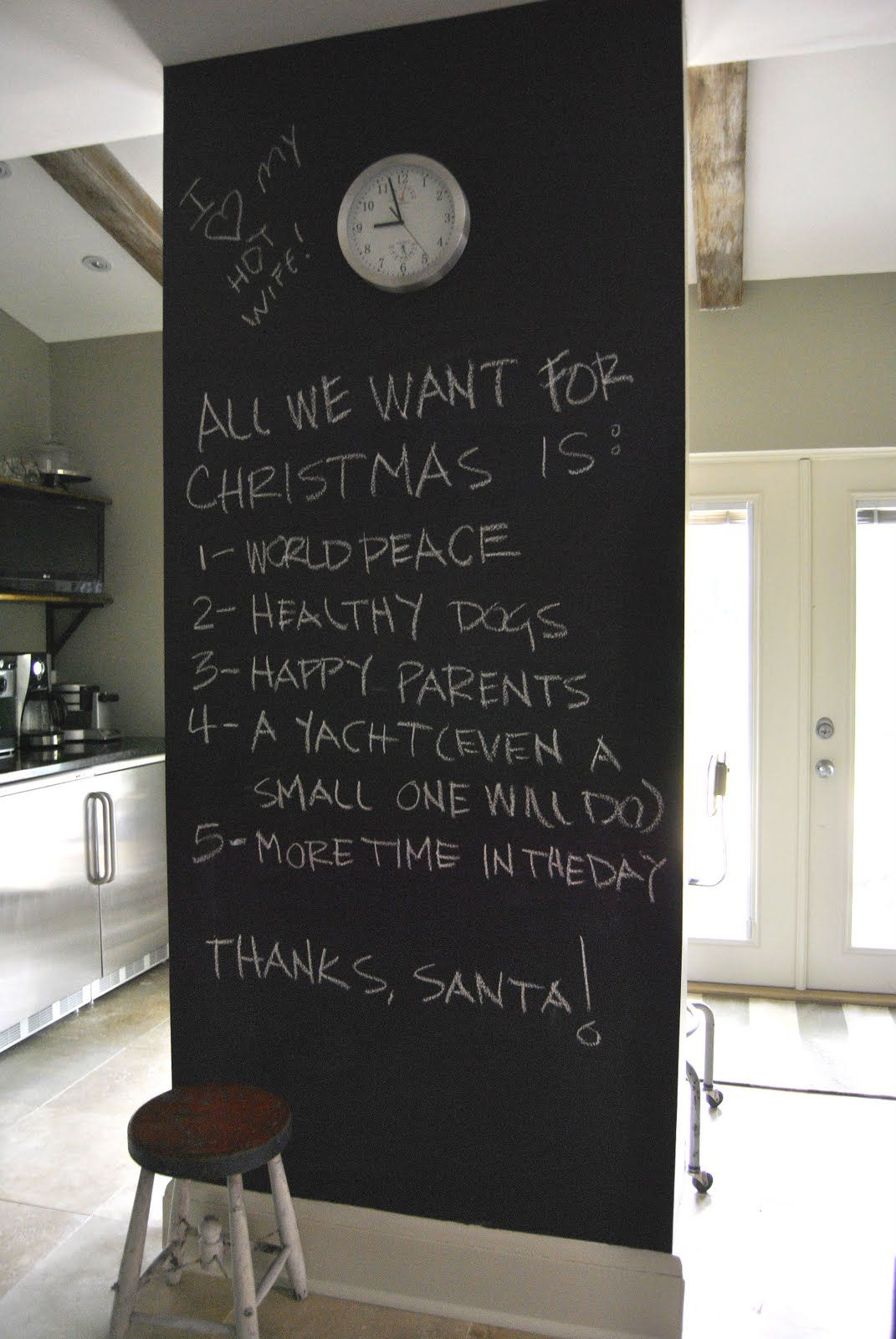 Chalkboard In Kitchen Chalkboard In Kitchen Ideas