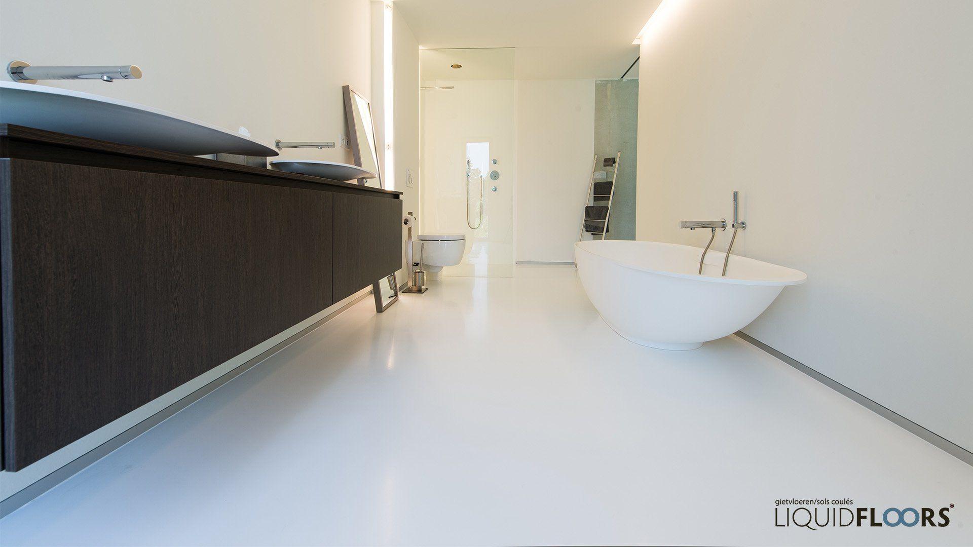 Badkamer Met Gietvloer : Gietvloer badkamer liquidfloors recital hall in
