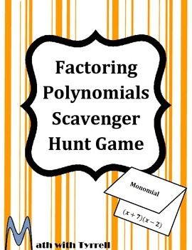 Versatile image for factoring polynomials games printable