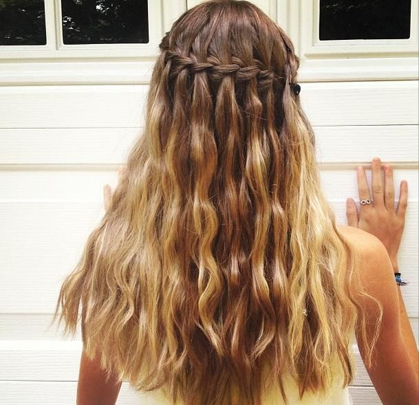 Hair: How to do a Waterfall braid hairstyle? | Hair style ...