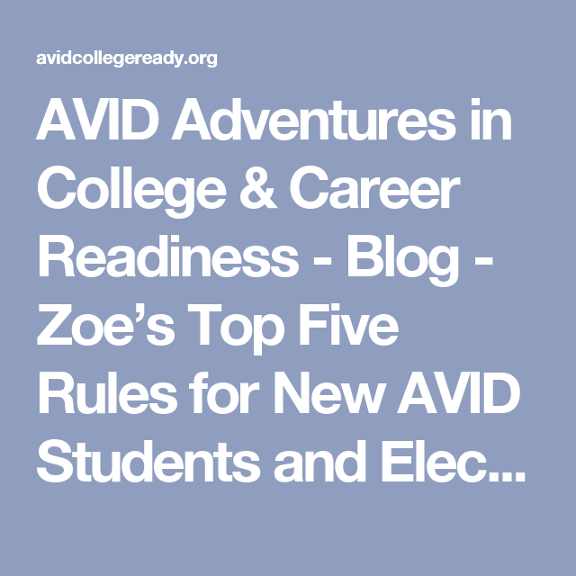 AVID Adventures In College & Career Readiness