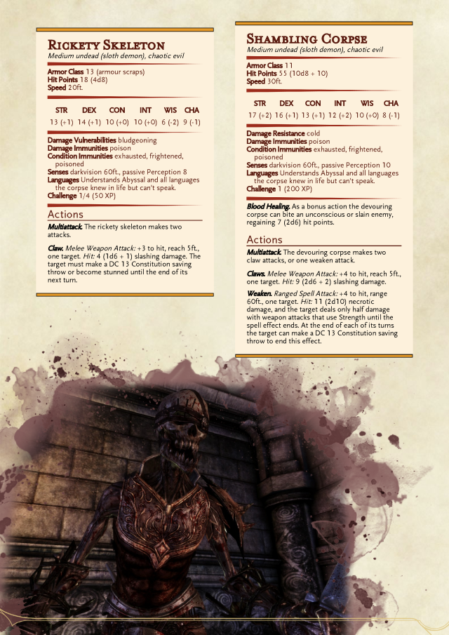 Undead skeleton zombie  CP 0 25  CP 1 | monsters of DnD in