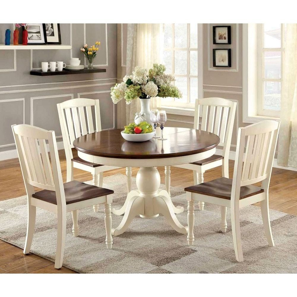 Furniture Of America Bethannie Cottage Style 2 Tone Oval Dining Table Ping The Best Deals On Tables