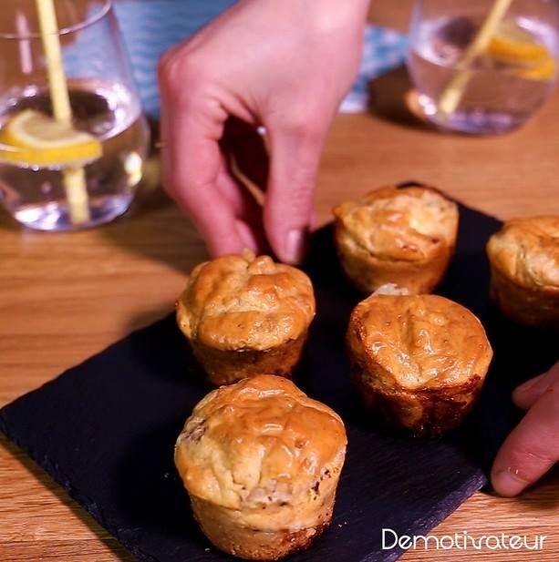 Muffins salés au chèvre et au miel