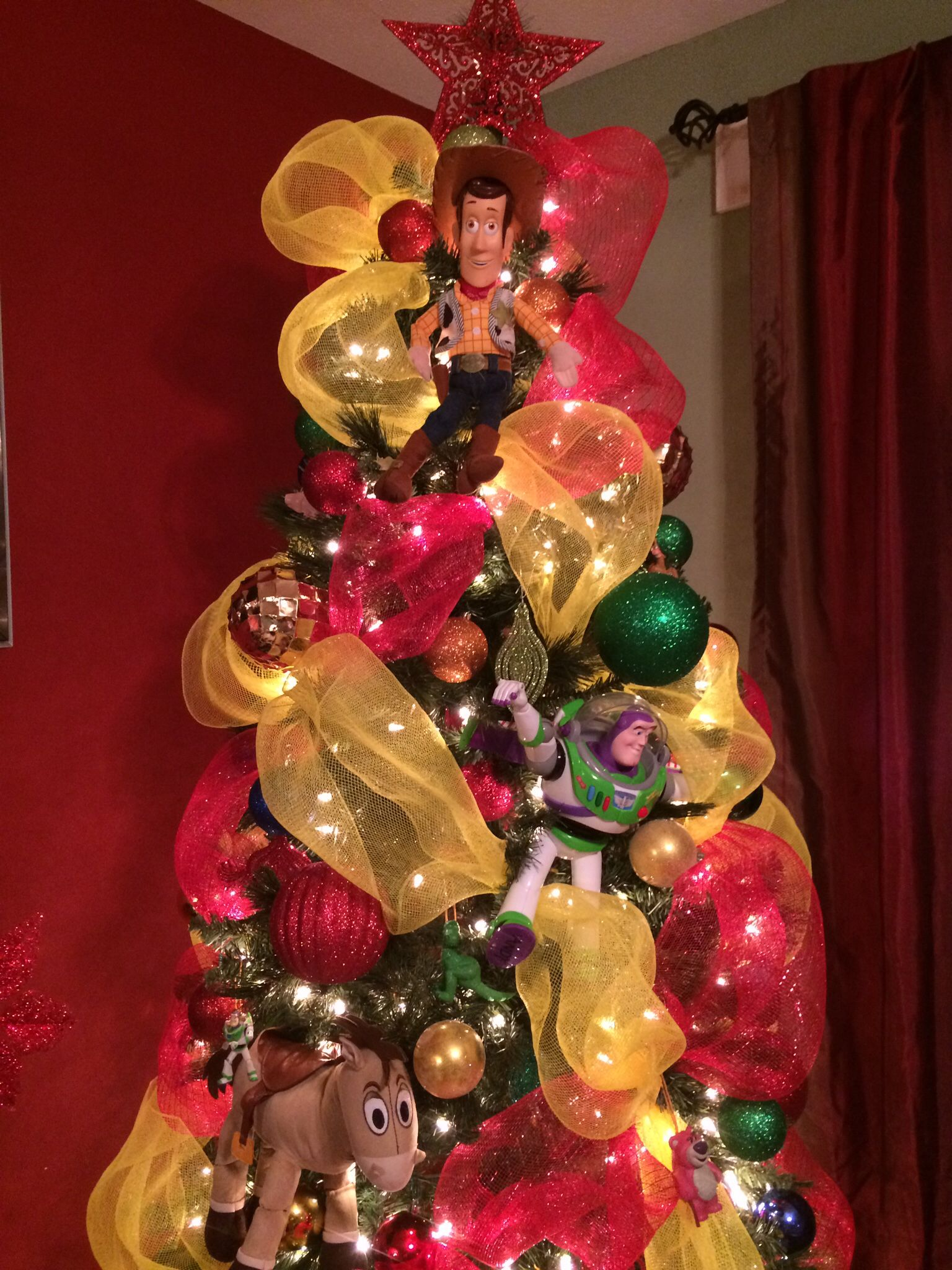 Toy Story Christmas Ornaments.Toy Story Decoration Ideas Christmas Tree Christmas