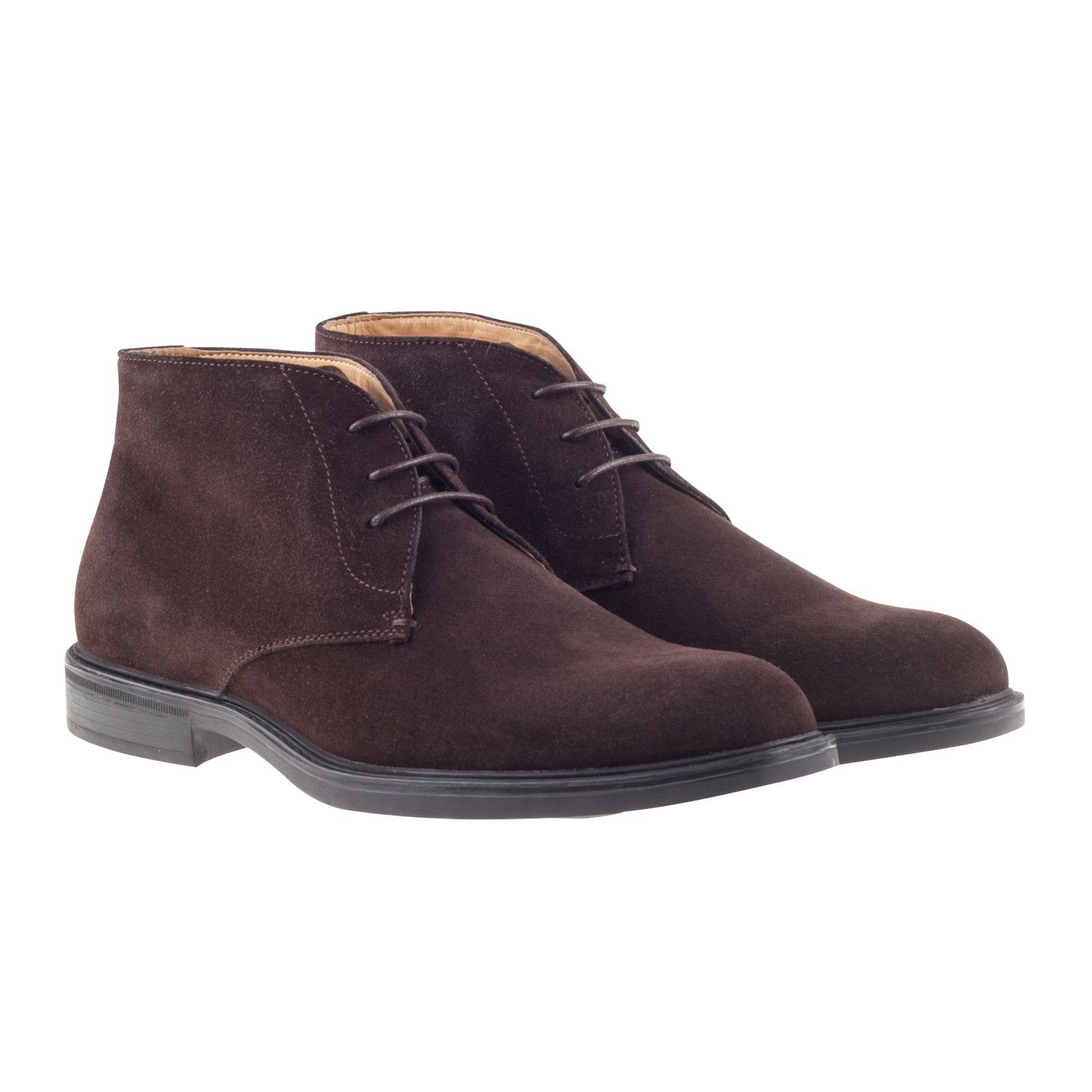 0b1a7a8ca1521 Steptronic Ghia Brown Suede Lace Up Chukka Boots with Sheepskin lining