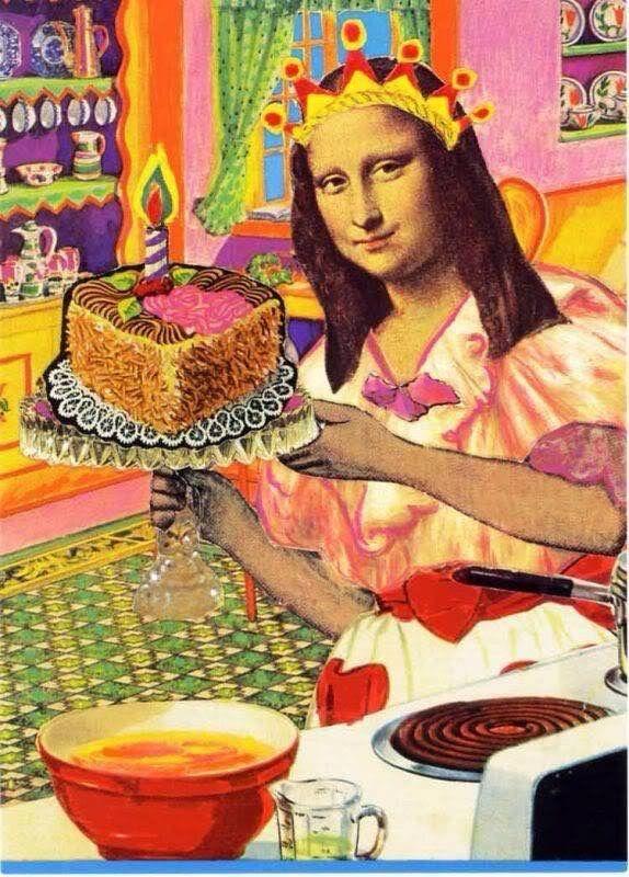 Happy Birthday Artist Meme : happy, birthday, artist, ✖️Mona, [Stef, (Gioconda, Lisa)✖️Fosterginger.Pinterest.Com.✖️More, Happy, Birthday, Humor,, Funny
