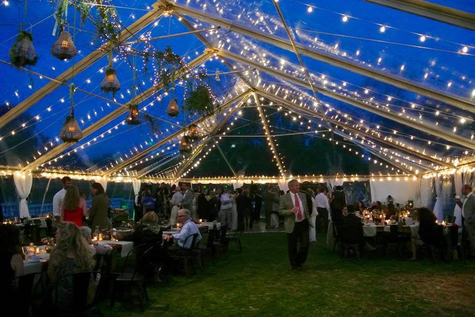 Oatlands Historic House u0026 Gardens- Clear frame tent with string lights by Capital Party Rentals & Oatlands Historic House u0026 Gardens- Clear frame tent with string ...