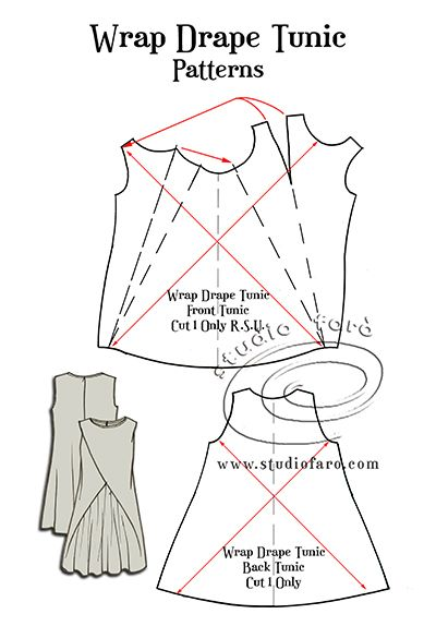 This one has been a long time in coming...The Wrap Drape Tunic #patternmaking on the blog. :)