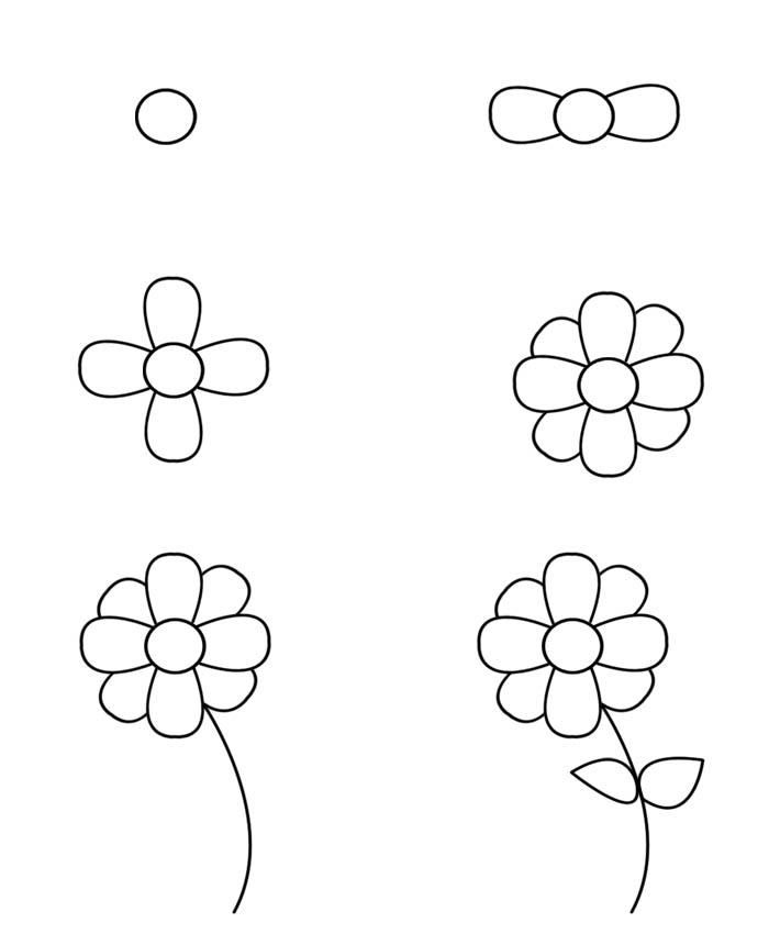 Learn How To Draw A Flower In Multiple Steps For Kids It Is Very Easy And Fun Loving Make