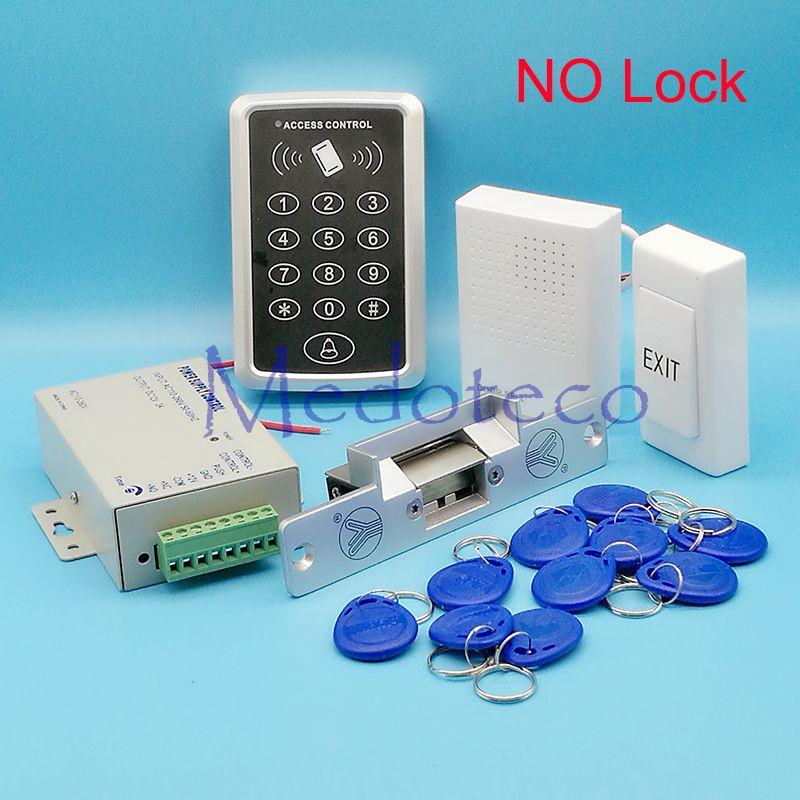 Diy Full Rfid Door Access Control System Kit Set No Nc Electric Strike Lock 12v Power Supply Proximity Doo Access Control System Access Control Entry Doors