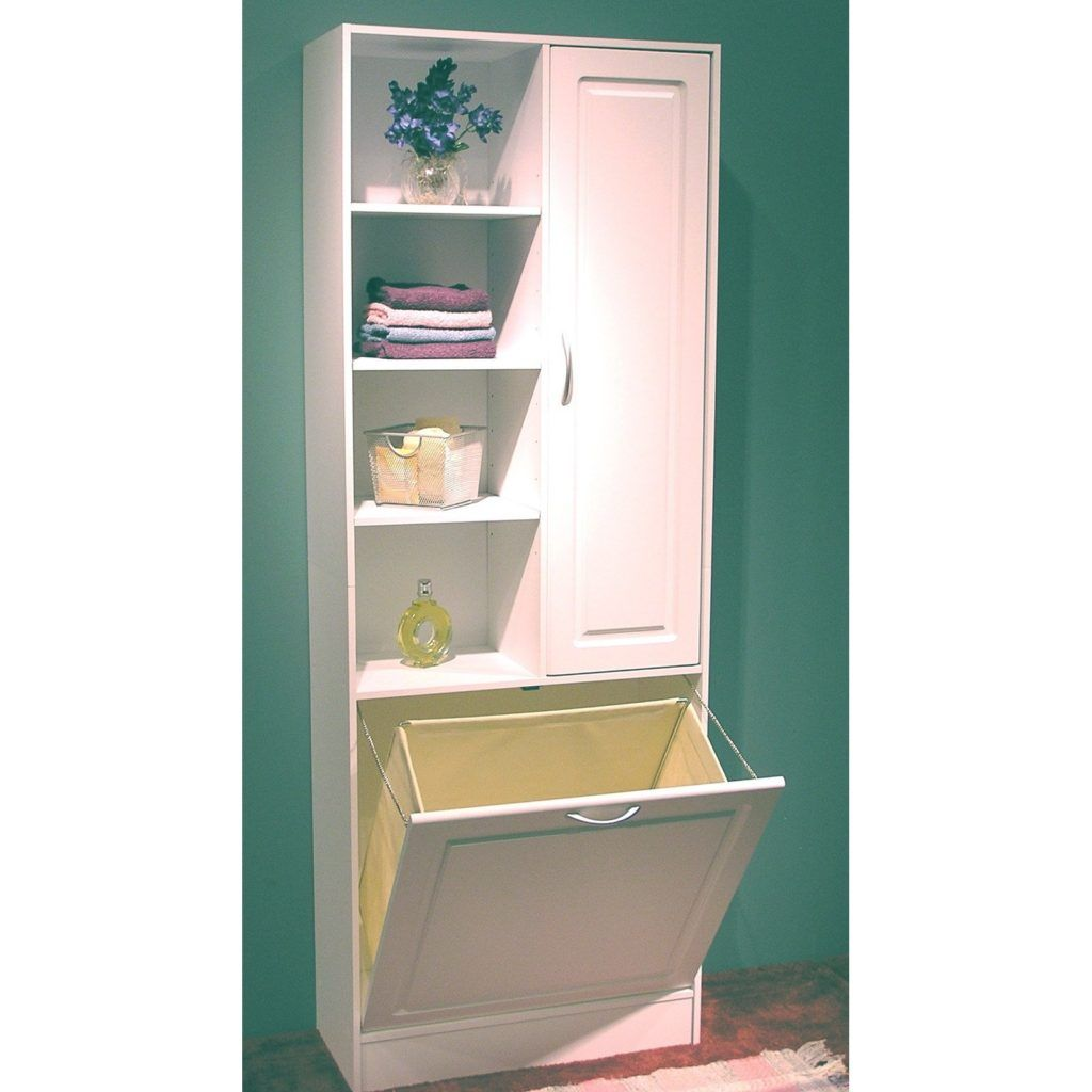 Bathroom Cabinet With Built In Laundry Hamper Tall Bathroom Storage Bathroom Linen Cabinet Room Storage Diy