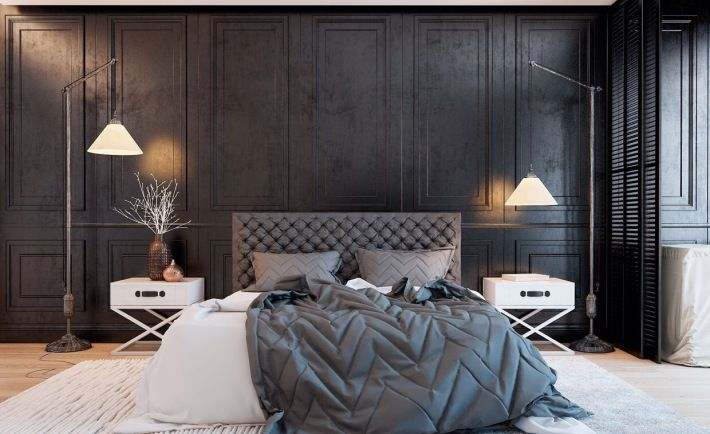 Fantastic layers of texture in this balanced bedroom by Vitaly Urov on home interior design layout, home interior design sketch, home interior design colors, home interior design styles, home interior design wallpaper,