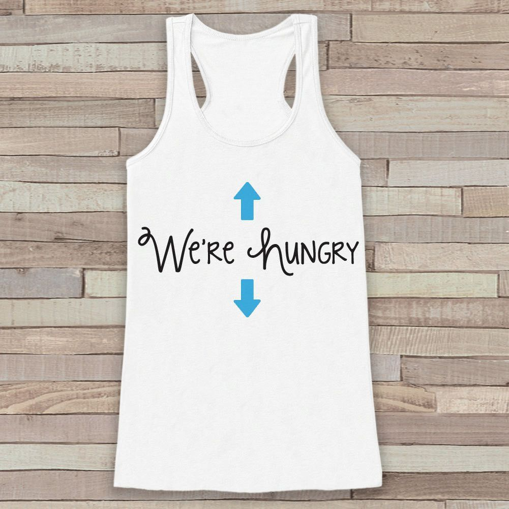 pregnancy announcement tank simple pregnancy shirt were hungry baby boy tank white tank top pregnancy announcement shirt new mom