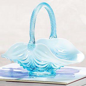 Mosser glass catalog | Home > Home Décor > Table Décor > Twist-Handle Glass Basket