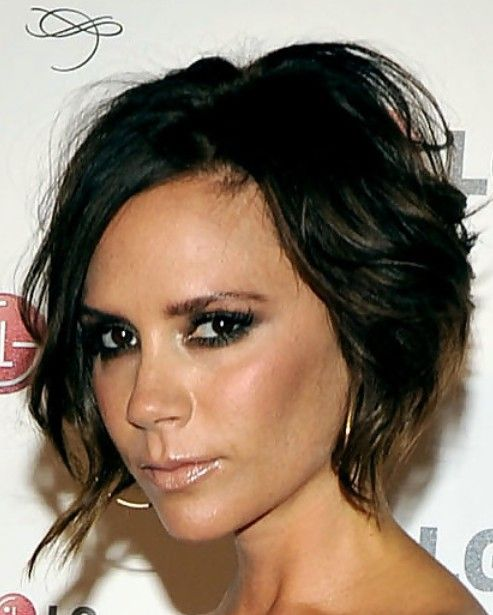 Victoria Beckham Messy Haircut - perfect for a boudoir, glam or family shoot. I love this cut!!