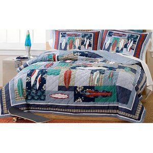 My World Surfing Usa Full Queen Quilt With 2 Shams
