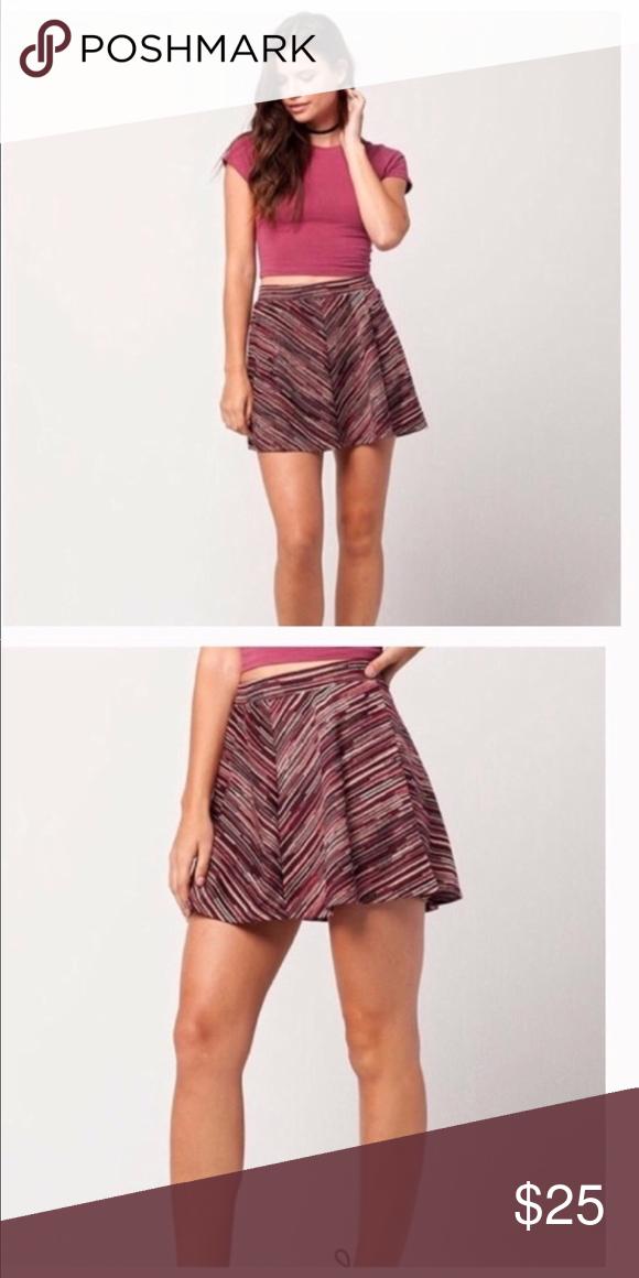 09434ecca6 Marled stripe skirt Full Tilt marled stripe skirt. With a flared  silhouette, the skater