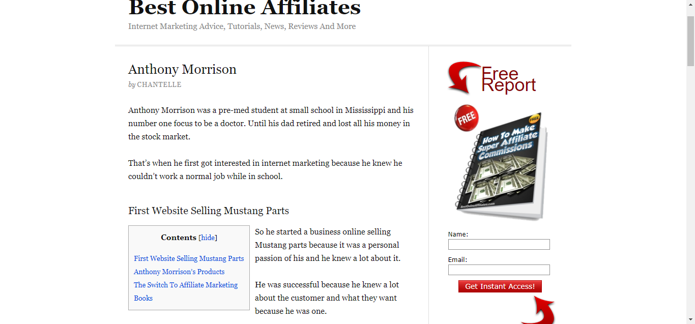 Anthony Morrison The Marketing King Is Trending High On The