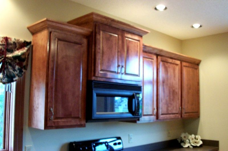 Cupboard Above Microwave Taller Upper Cabinets Adjacent To A