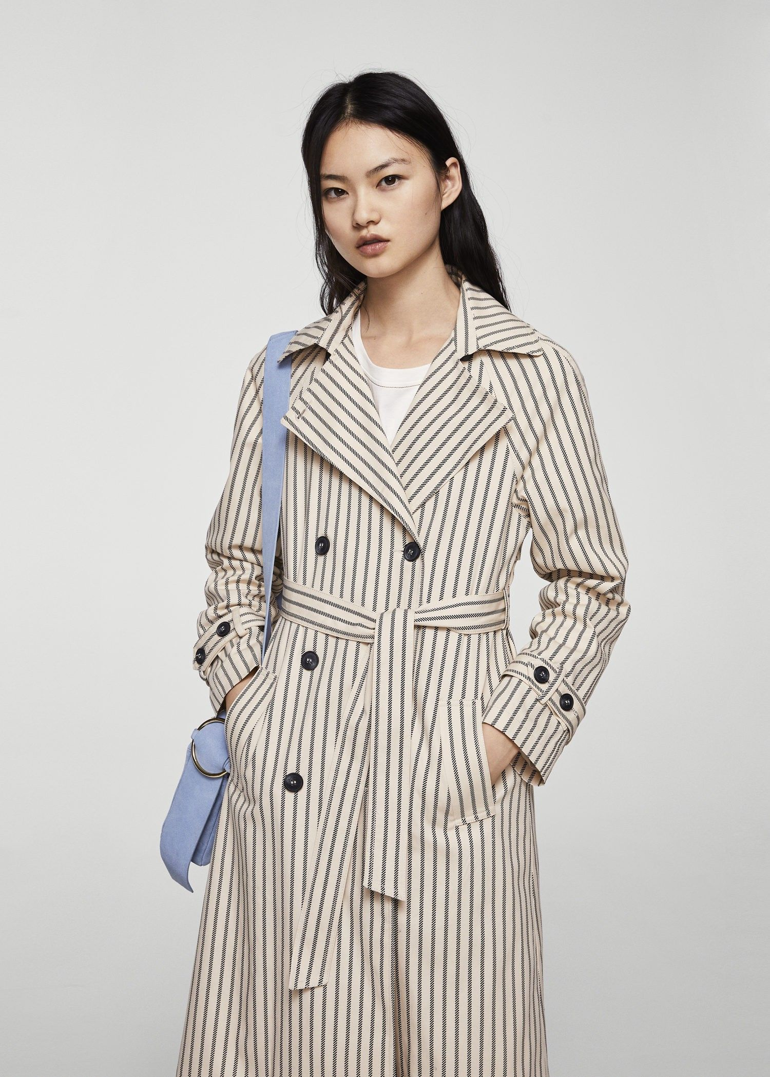 366babd58b699 Mango Striped Belt Trench - Women   M   Products in 2018   Pinterest ...