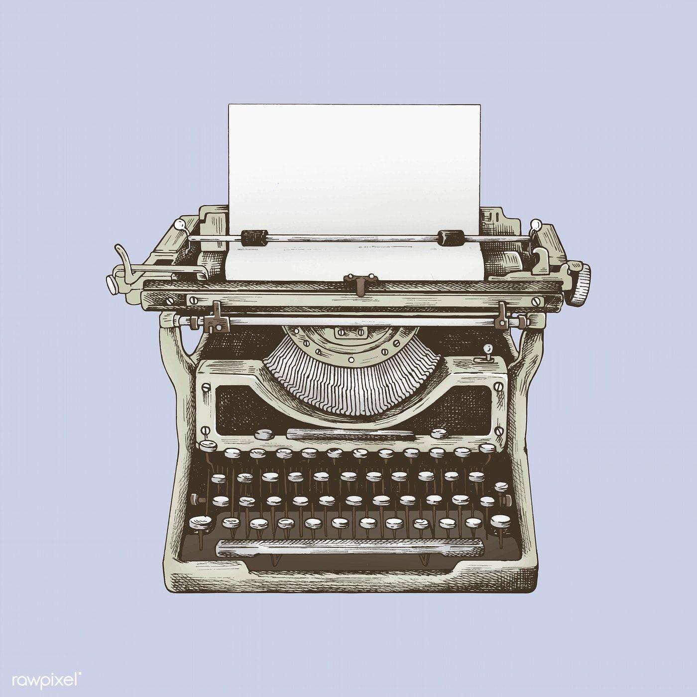 Download premium vector of Vintage mechanical typewriter