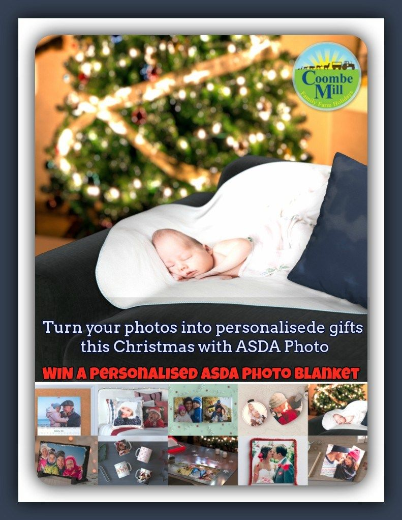 Asda Photo Turn Photos Into Gifts This Christmas Coombe Mill New Photo Blanket Personalized Christmas Photo