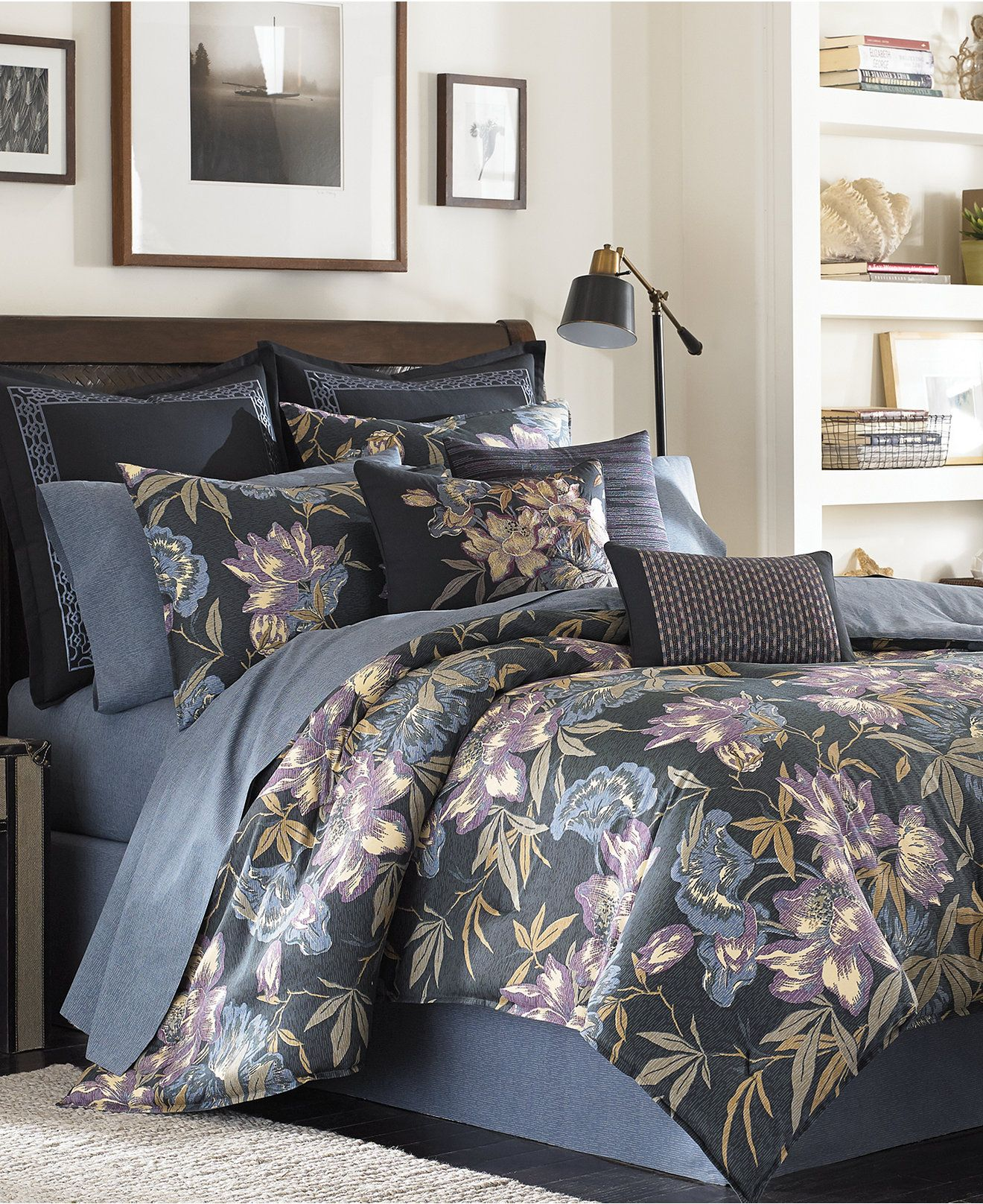 Tommy Bahama Home Kaftan Floral Comforter And Duvet Cover Mini