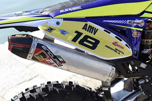 Sherco 300 2T OFFROAD Enduro Factory Matti Seistola race bike exhaust