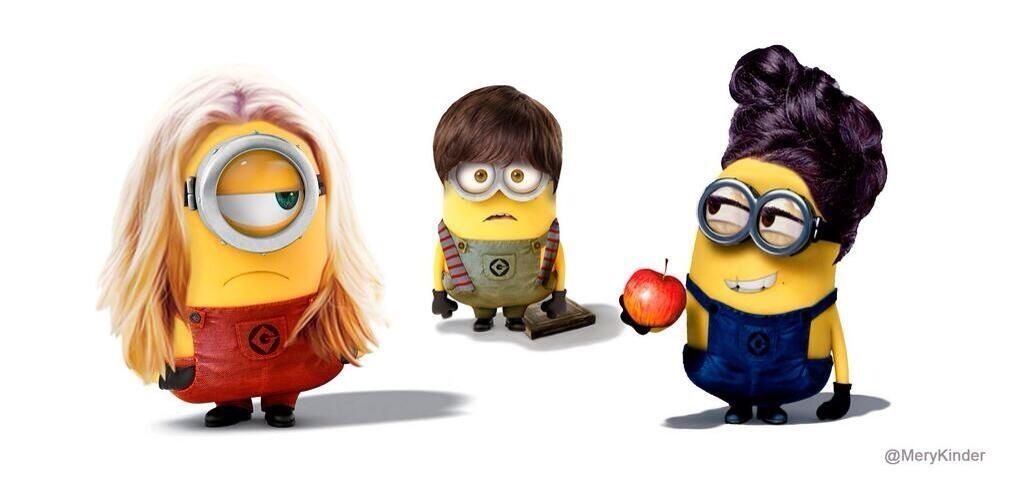 How to get the savior to eat my forbidden fruitlol its henry and emma and some other minion dressed as a human i dont know!!!!