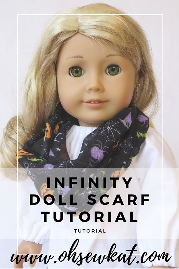 Make an Infinity Scarf for 18 inch Dolls with a Dollar Tree Scarf #dollclothes