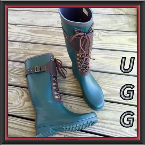 Ugg Australian Madelynn Rainboot In Pineneedle SOLD OUT