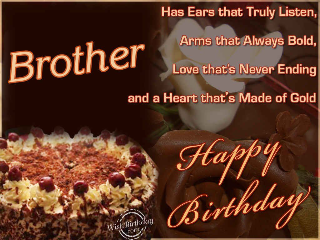 Happy Birthday Brother | Cake | Birthday wishes for brother