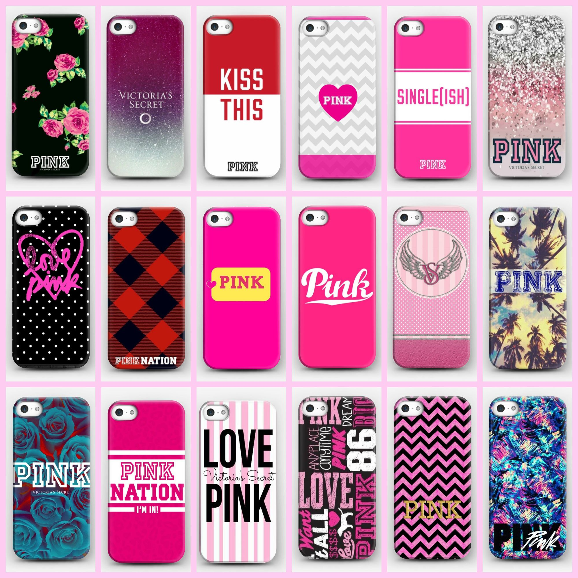 e2b828c72e26e Victoria's Secret PINK 1986 PC Hard Case Covers For iPhone 4S 5 5s ...