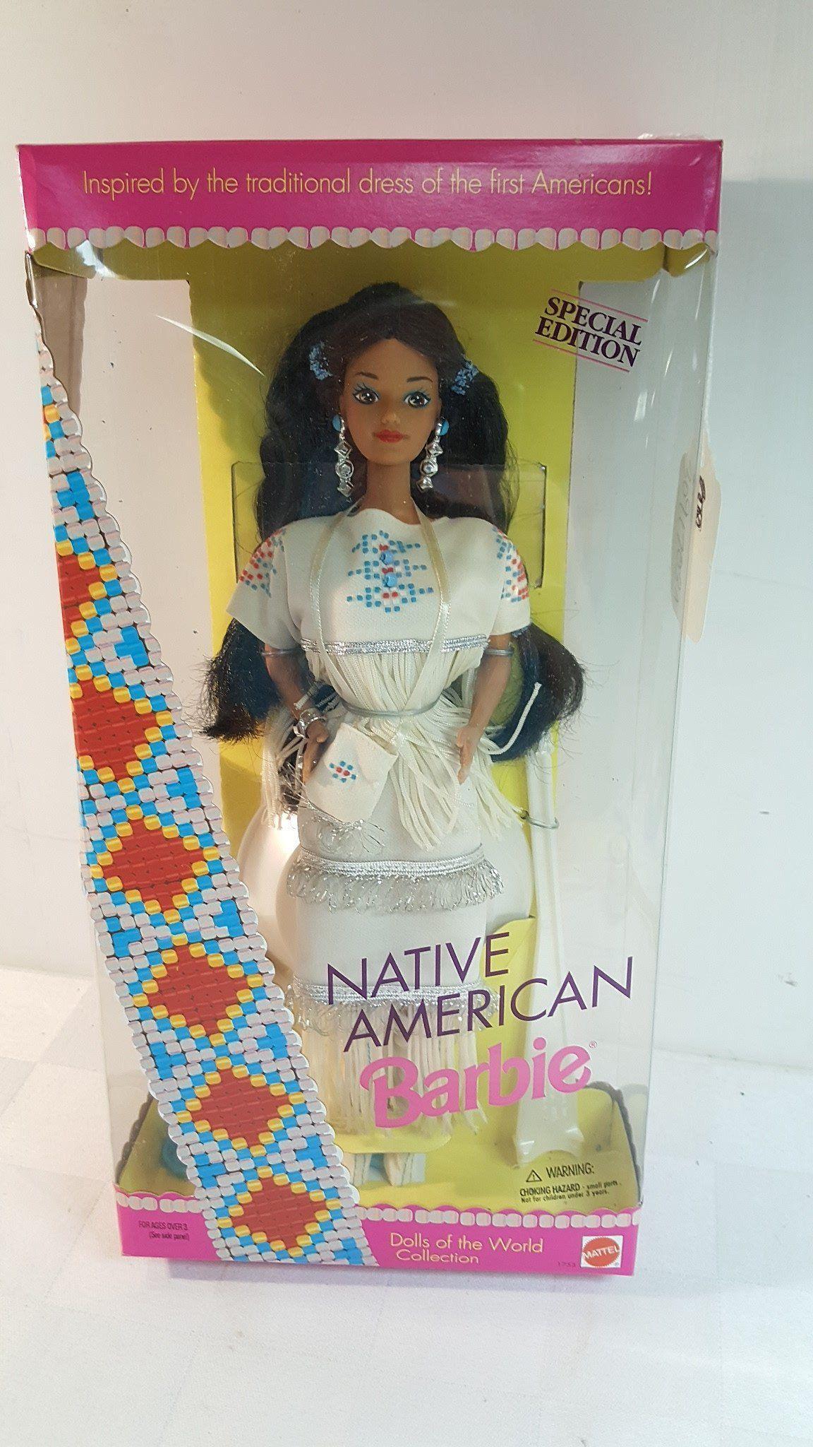 Native american wedding dress   Native American Barbie doll first edition NRFB  fashion dolls