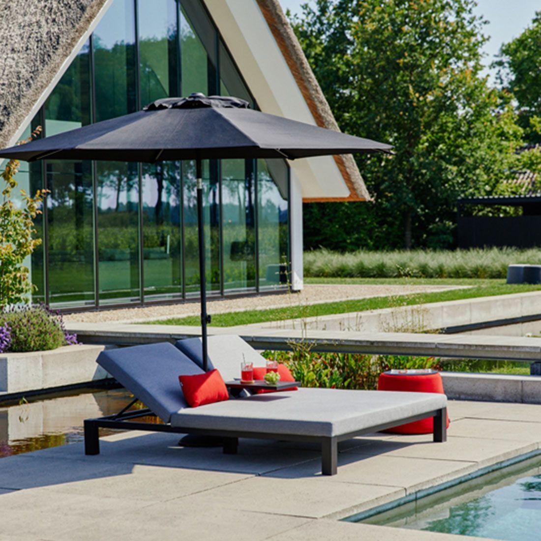 Hartman Eva Daybed Aluminium Sunbrella Carbon Black Mid Grey Garten Und Freizeit In 2021