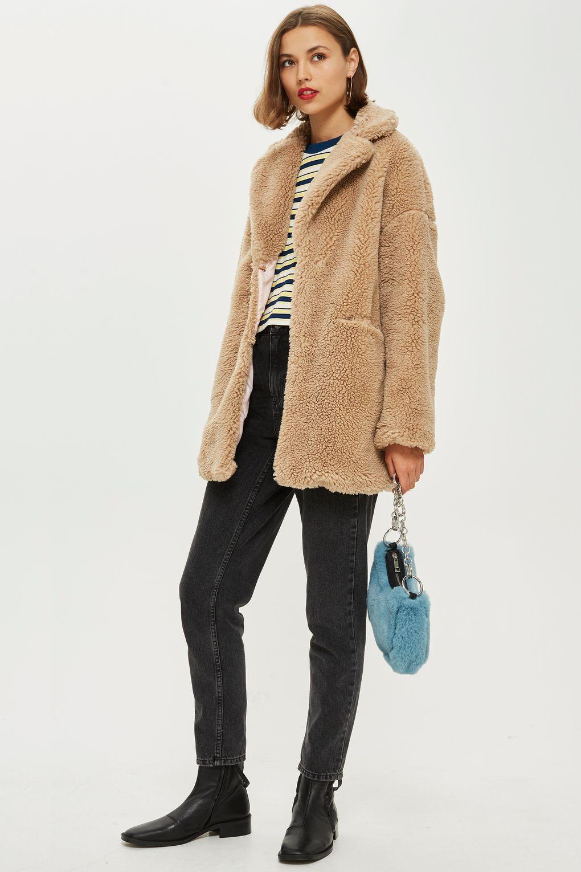 1c6835808ef01 Borg Coat - Jackets   Coats - Clothing - Topshop USA