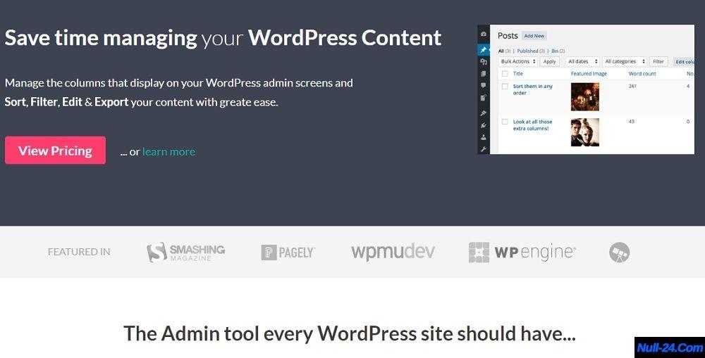 Admin Columns Pro V4 5 5 Manage Columns In Wordpress Free Nulled Wordpress Plugins Wordpress Admin Column