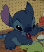 Stitch loves to fix things