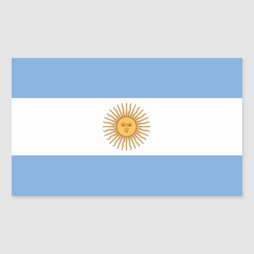 Argentina Flag Sticker Zazzle Com Argentine Flag Argentina Flag Argentinian Flag [ 1024 x 1024 Pixel ]