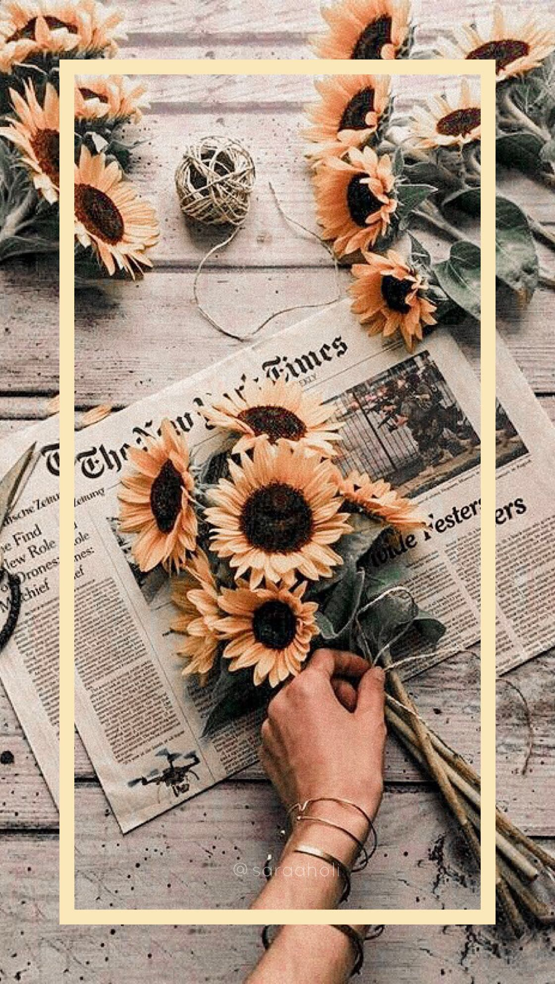 iPhone wallpaper #sunflowers #wallpaper #newspaper #iphone