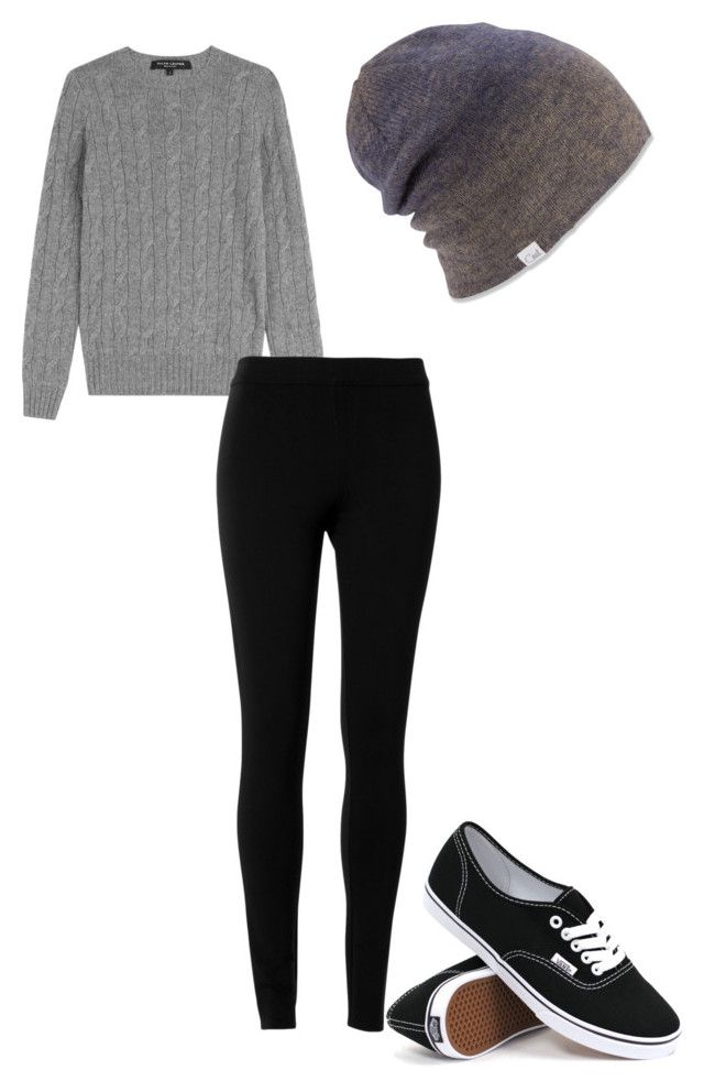 """""""Lazy"""" by pheobe-poindexter on Polyvore featuring Ralph Lauren Black Label, Max Studio, Vans and Coal"""