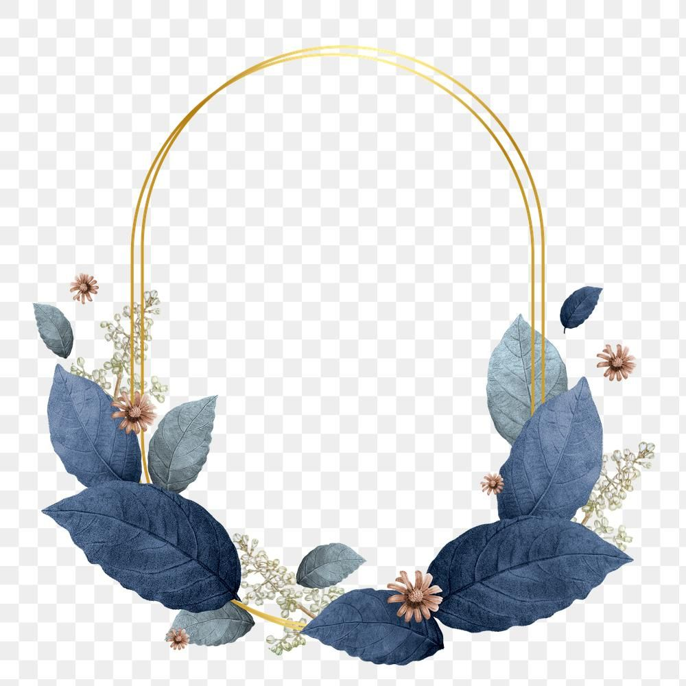 Blue Leaves With Oval Frame Design Element Premium Image By Rawpixel Com Hein Frame Design Oval Frame Blue Leaves